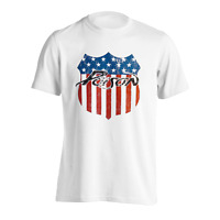 Official Poison T Shirt American Tour Distressed Logo Shield