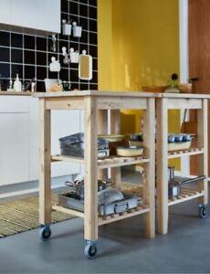 IKEA BEKVÄM Servierwagen, Birke 58 x 50 cm