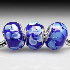 5/10pcs Murano Glass Beads Lampwork Fit European Bracelet DIY 14x14x10mm