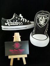 Oakland RAIDERS custom men and women football sports  fan shoes!!!