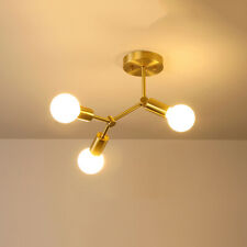 3/4-Lights Sputnik Branching Chandelier Semi Flush Mount Ceiling Light Fixture