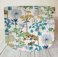 Fabric Lampshade made w/ Iliv Hedgerow Pistachio Fabric Floral Cow Parsley Green