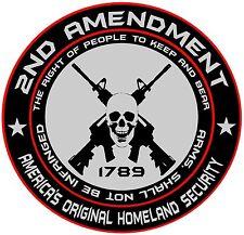 "8"" x 8"" Set of 2.  2nd Amendment Right To Bear Arm Round Vinyl Decal Sticker"