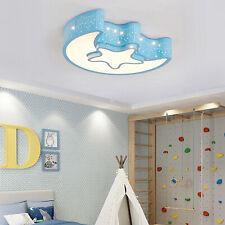 Acrylic Star Moon Ceiling Light Fixture Kids Room Lamp LED Bedroom Light 110V