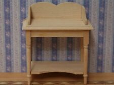 Wash Stand Bare wood, Dolls House Miniatures, 1.12 Scale, Bathroom.