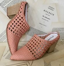 Jeffrey Campbell Mule Bootie Weaved Western pink Leather 7 NIB