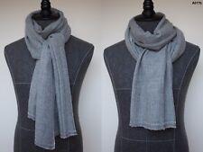 Men's 100% Alpaca Scarf Pashmina Cashmere Silk Wool Handwoven