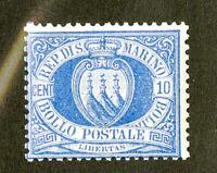 San Marino Stamps # 7 FVF OG NH Fresh Scott Value $700.00