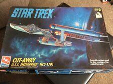 """AMT Star Trek la USS ENTERPRISE NCC 1701 """"Cut-away"""" Kit Modellino in scala 1:650"""