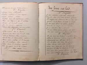 Cahier Manuscrit Xix De Chanson 115 Page