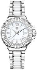 Tag Heuer Formula 1 White Ceramic Diamond Bezel Watch WAH1215.BA0861 Retail$3600
