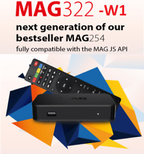 MAG 322 W1 IPTV Set-Top-Box  +HDMI + BUILD-IN WIFI by Infomir mag254 likewise