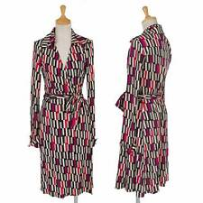 (SALE) DIANE VON FURSTENBERG Sleeves print wrap dress Size 4(K-30330)