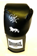 * New *  Carl Froch Hand Signed Black Lonsdale Boxing Glove