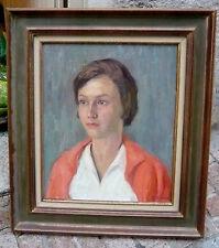 Beau portrait par la grande artiste Blanche CAMUS 1884-1968 grosse côte