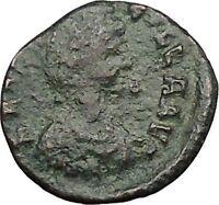 AELIA FLACILLA 378AD Ancient Rare Roman Coin VICTORY CHI-RHO Christ monog i32805