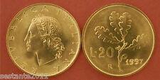 C18  ITALY  ITALIA REPUBBLICA ITALIANA   20 LIRE 1997   KM 97.2  FDC / UNC