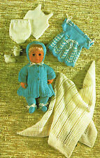 Bambole vestiti Knitting pattern per 12 Pollice Baby Doll Bambola. (V 69)