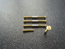 Brass Door Handle Furniture, Screws, Fittings, Bolts, with Sleeve set of 4.