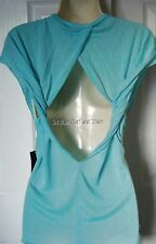 NWT WOMENS FOX RACING CONTROVERSY OPEN TWIST BACK TOP SHIRT TEE L LARGE NEW