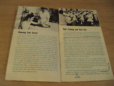 """1952 KOREAN WAR U.S. Army Brochure~""""PHYSICAL THERAPY""""~Women's Corps~"""