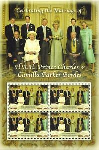 MODERN GEMS - Sierra Leone - Prince Charles & Camilla Marriage - Sheet of 4 -MNH