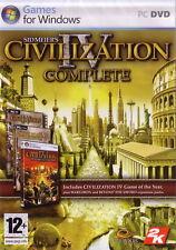PC DVD • Civilization 4 IV Complete • NUOVO SIGILLATO