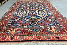 Decorative 1960s Vintage 6x9ft Turkish Ushak Wool Pile Area Rug Turkey