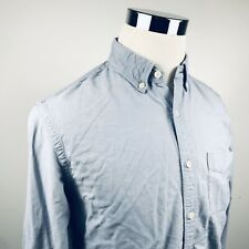 J Crew Mens Medium Oxford Shirt Light Blue 100% Cotton Casual Button Down