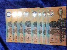 1988 Australian $10 Commerative Notes Gen Prefix 8 available Unc