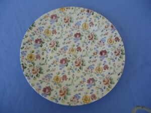 churchill england chintz all over floral dinner plate
