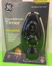 GE Light Sensing Countdown Timer Indoor-Outdoor Photocell New