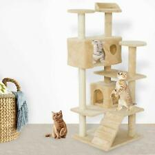 "New52"" Cat Tree Tower Condo Furniture Scratching Post Pet Kitty Play House Beige"