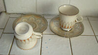 Shalimar Masterpiece China by Franciscan Cups & Saucers Lot of 2 ~ Excellent