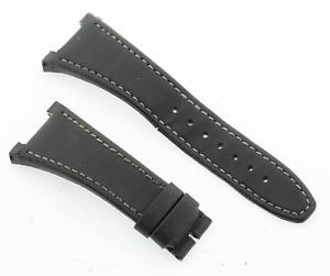Genuine IWC Ingenieur Black Fabric and Calf Leather Watch Strap 15/29mm Lug