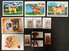 Grenada #2169-70,2630-32,2634, Grenadines #1512-13,1899-1902 Dogs 1993-97 MNH