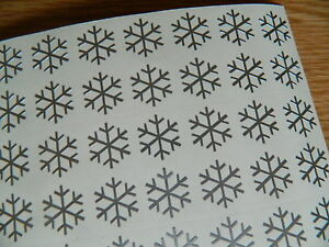 Snowflakes Vinyl Stickers self adhesive winter stationery windows 20mm to 50mm