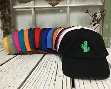 Cactus Curved Brim Baseball Polo Caps Hats - Many Colors