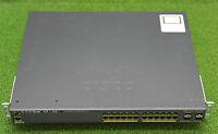 Cisco WS-C2960X-24PS-L Catalyst 2960X 24 Port PoE Network Switch - 1YrWty