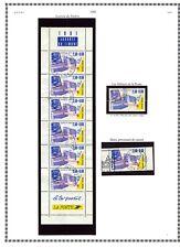 Beaux oblitérés Journée du timbre 1991 + Bande carnet - Y&T cote 11,90€
