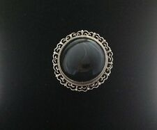 Sterling Mexican Onyx Cabochon, Filigree, Brooch and Pendant Eagle Mark 28