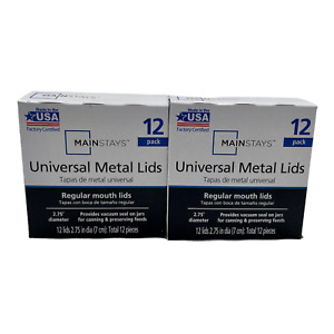 Mainstays Universal Regular Mouth Canning Jar Lids 2 Boxes of 12 Lids