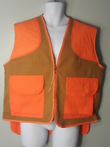 Ideal #2074 Orange Brown Work Safety Hunting Vest Size Large 42-44  Made in USA