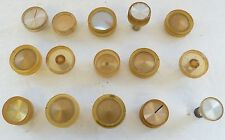 Radio Plastic Hi-Fi Dials Knobs, Similar Knobs, 15, Vtg Electronics Antique