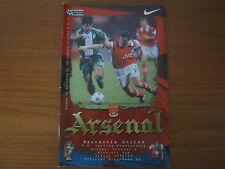 Arsenal v Newcastle United - FA PL  - Season 1998 - 99 (VGC).