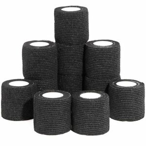 """12 Pack Self Adhesive Bandage Wrap Cohesive Tape  for People Pets Vet 2""""x 1 Yard"""