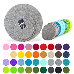FILZ Untersetzer Tassenuntersetzer Platzset 10-15-20-25-35 RUND Kreis 50 Farben