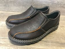 NEW Clarks Shoes Vanek Step Brown Oily Casual Loafer Shoes Size 9, 10, 11, 12