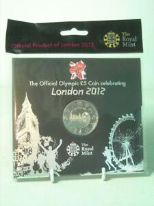 Royal Mint 2012 London Olympics BU £5 POUND COIN SEALED PACK Official Product