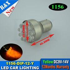 1PCS DC12V 12 LED BA15S 1156 AMBER INDICATOR AUTOMOTIVE GLOBE Light Lamp Bulbs